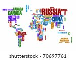 world map  countries in color... | Shutterstock .eps vector #70697761