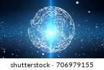 plexus sphere in a 3d particles ... | Shutterstock . vector #706979155