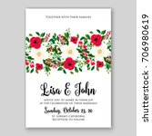 wedding invitation autumn... | Shutterstock .eps vector #706980619