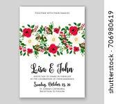 wedding invitation autumn... | Shutterstock .eps vector #706980619