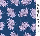 Dahlia Flower Seamless Pattern...