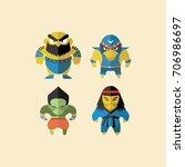 wrestler | Shutterstock .eps vector #706986697