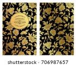 rustic wedding invitation card... | Shutterstock .eps vector #706987657