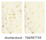 the marriage invitation card... | Shutterstock .eps vector #706987735
