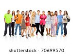 big group young people | Shutterstock . vector #70699570