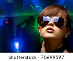 portrait of a beautiful dancing ...   Shutterstock . vector #70699597