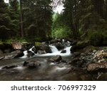 mountain river in the forest | Shutterstock . vector #706997329