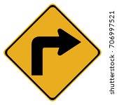 yellow blind corner turning... | Shutterstock .eps vector #706997521