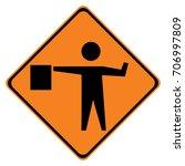 us warning traffic sign ... | Shutterstock .eps vector #706997809