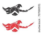rustic spartan icon logo | Shutterstock .eps vector #707000551