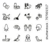 allergy icons set. line style... | Shutterstock .eps vector #707001517