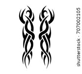tribal tattoo art designs.... | Shutterstock .eps vector #707002105