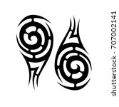 tribal tattoo art designs.... | Shutterstock .eps vector #707002141