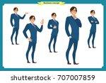 set of full length business... | Shutterstock .eps vector #707007859