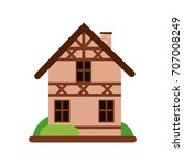 traditional old german house... | Shutterstock .eps vector #707008249
