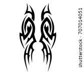 tribal tattoo art designs.... | Shutterstock .eps vector #707014051