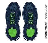 vector cartoon blue running... | Shutterstock .eps vector #707018059