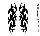 tribal pattern tattoo vector... | Shutterstock .eps vector #707021854