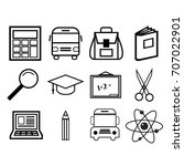 school icons vector  | Shutterstock .eps vector #707022901