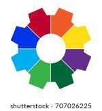 eight part gear graphic | Shutterstock .eps vector #707026225