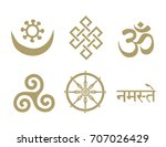 buddhist symbols. you can use... | Shutterstock .eps vector #707026429
