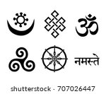 buddhist symbols. you can use... | Shutterstock .eps vector #707026447