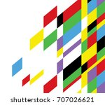 color pop art abstract vector... | Shutterstock .eps vector #707026621