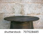 barrel table with copy space ... | Shutterstock . vector #707028685
