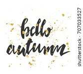 vector greeting card with gold...   Shutterstock .eps vector #707033527