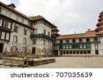 Small photo of The courtyard of Hanuman Dhoka Palace. Kathmandu Durbar square, one year ago after earthquake. Nepal, Asia.