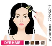 dye hair vector illustration | Shutterstock .eps vector #707042749