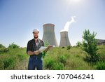 the engineer reads the... | Shutterstock . vector #707046241