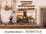 interior of a vintage kitchen.... | Shutterstock . vector #707047714