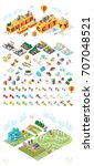 build your own city. set of... | Shutterstock .eps vector #707048521