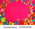 colored gift boxes with... | Shutterstock . vector #707053999