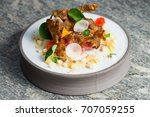 fine dining  elegant tuna... | Shutterstock . vector #707059255