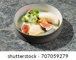 fine dining dessert  fresh figs ... | Shutterstock . vector #707059279