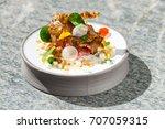 fine dining  elegant tuna... | Shutterstock . vector #707059315