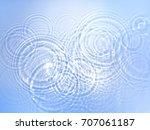 consecutive ripples | Shutterstock . vector #707061187