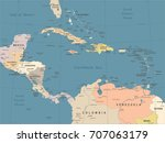 central america map   vintage...   Shutterstock .eps vector #707063179