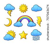vector illustration set.... | Shutterstock .eps vector #707063674