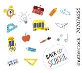 back to school. set in vector.... | Shutterstock .eps vector #707076235