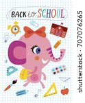 back to school. childish... | Shutterstock .eps vector #707076265