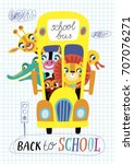 back to school. childish... | Shutterstock .eps vector #707076271