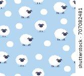 Sheep. Seamless Pattern. Vecto...