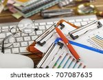 business accounting  | Shutterstock . vector #707087635