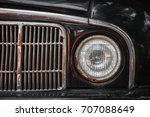 old rusty car bumper and lamp.... | Shutterstock . vector #707088649