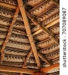 sri lanka. roof made of wood...   Shutterstock . vector #707089087