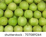 guava  psidium guajava . exotic ...   Shutterstock . vector #707089264