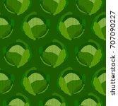 seamless cabbage pattern | Shutterstock .eps vector #707090227